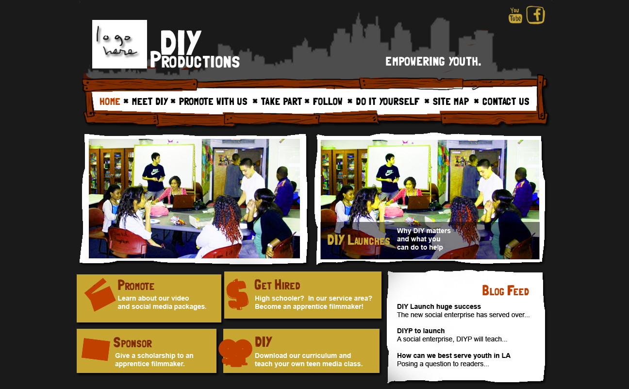 DIY Productions Web Mock-up