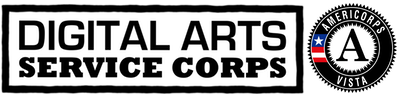 Digital Arts Service Corps and AmeriCorps*VISTA support this application