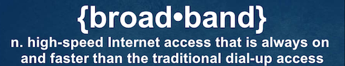 The FCC's definition of Broadband