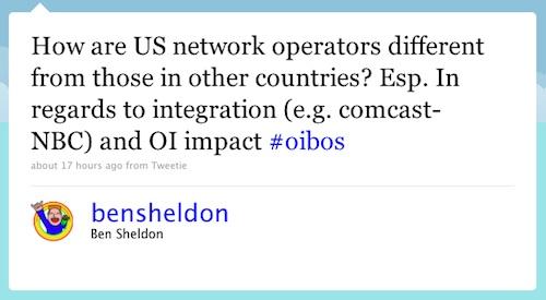 Twitter question about vertical integration
