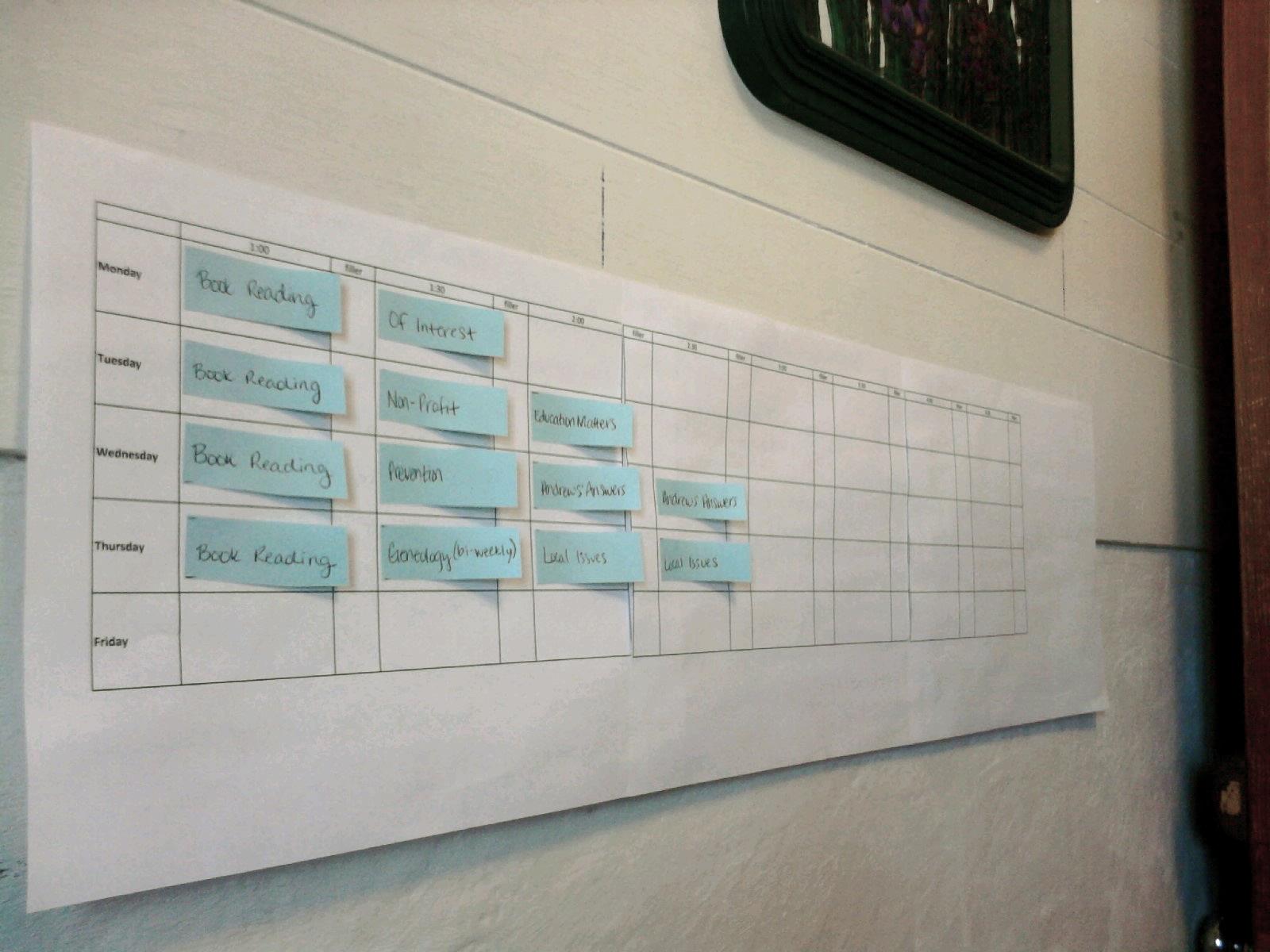 programming calendar