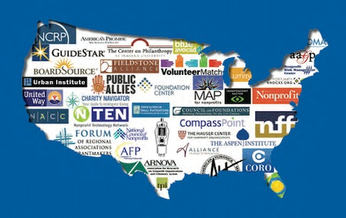 Nonprofit Infrastructure Logo Map